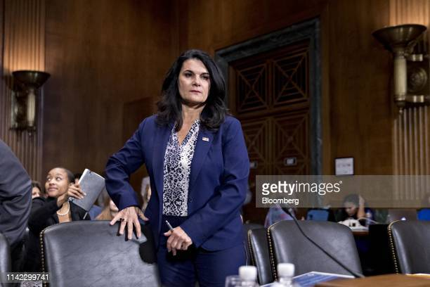 Nathalie Asher, acting executive associate director of enforcement and removal operations at the Department of Homeland Security , arrives to a...