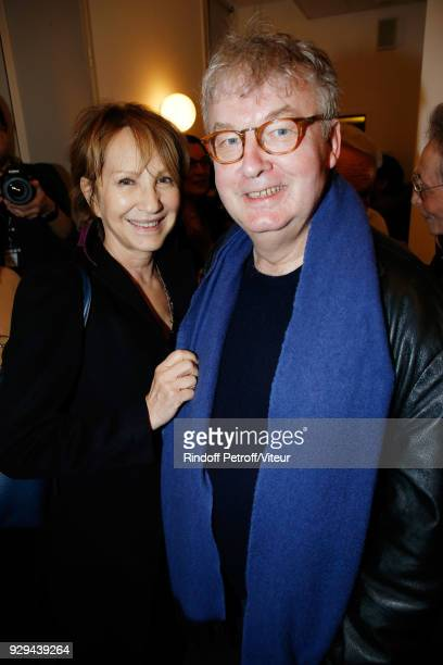 Nathalie Baye and Dominique Besnehard attend Nana Mouskouri Forever Young Tour 2018 at Salle Pleyel on March 8 2018 in Paris France