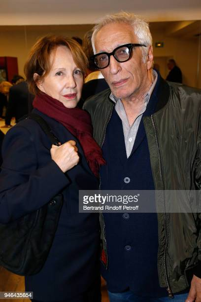 Nathalie Baye and Gerard Darmon attend Sylvie Vartan performs at Le Grand Rex on April 14 2018 in Paris France