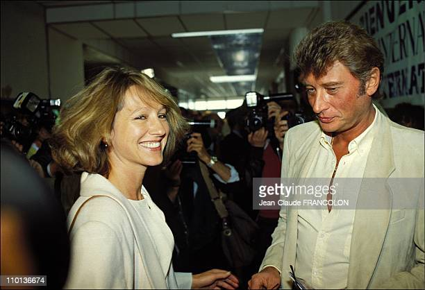 Nathalie Baye and Johnny Hallyday at Cannes festival in France on May 24th1984 Nathalie Baye and Johnny Hallyday The singer and the actress are...