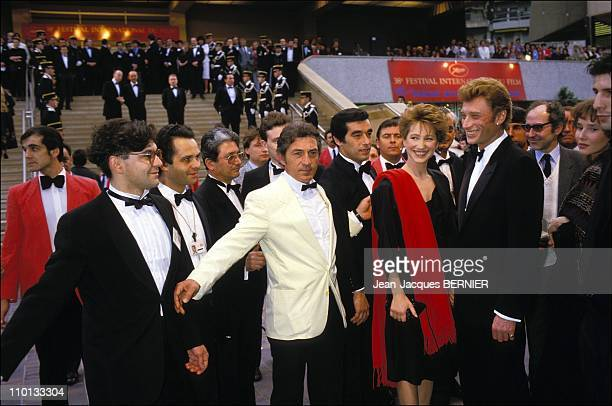 Nathalie Baye and Johnny Hallyday at Festival of Cannes in France on May 12th1985