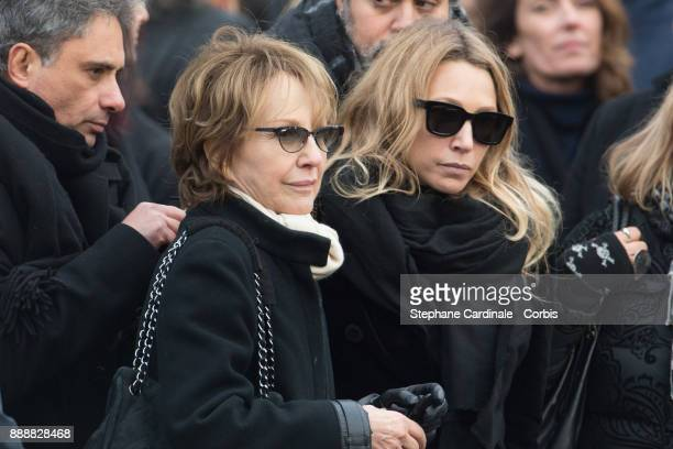 Nathalie Baye and Laura Smet are seen after the Johnny Hallyday's Funeral at Eglise De La Madeleine on December 9 2017 in Paris France France pays...