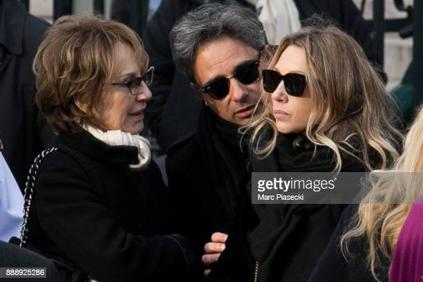 Nathalie Baye and Laura Smet are seen during Johnny Hallyday's funerals at Eglise De La Madeleine on December 9 2017 in Paris France France pays...