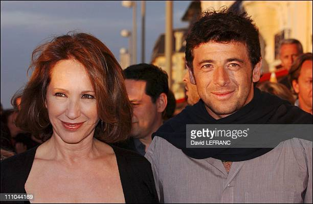 Nathalie Baye and Patrick Bruel at Cabourg Romantic Film Festival in France on June 12 2004