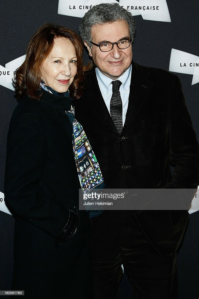 Nathalie Baye and Serge Toubiana attend the Maurice Pialat Exhibition And Retrospective Opening at Cinematheque Francaise on February 18, 2013 in Paris, France.