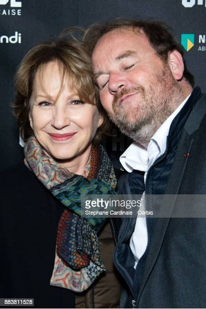 Nathalie Baye and Xavier Beauvois attend the 'Les Gardiennes' Paris Premiere at la cinematheque on December 1 2017 in Paris France