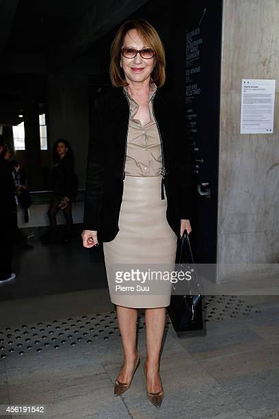 Nathalie Baye attends the Acne Studios show as part of the Paris Fashion Week Womenswear Spring/Summer 2015 on September 27 2014 in Paris France