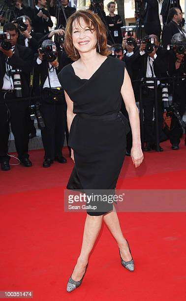 Nathalie Baye attends the Palme d'Or Award Closing Ceremony held at the Palais des Festivals during the 63rd Annual Cannes Film Festival on May 23...
