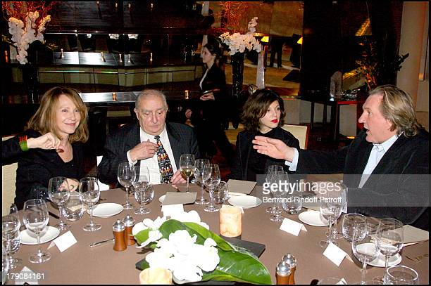 Nathalie Baye Claude Chabrol Clementine Igou and Gerard Depardieu at Special Party For Claude Chabrol To Celebrate His 50 Year Career And The Launch...