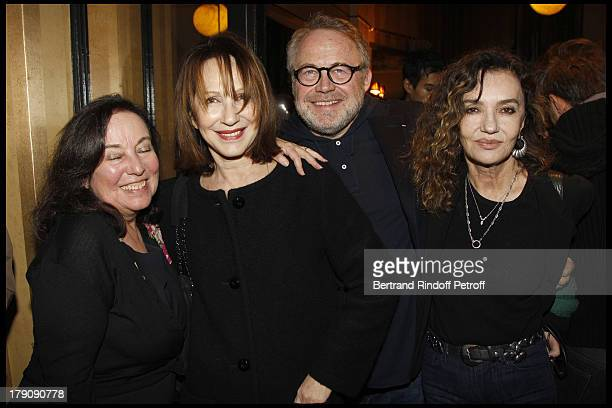 Nathalie Baye Dominique Segall Caroline Cellier at The 60th Birthday Celebration Of Dominique Segall At Mathys Restaurant In Paris