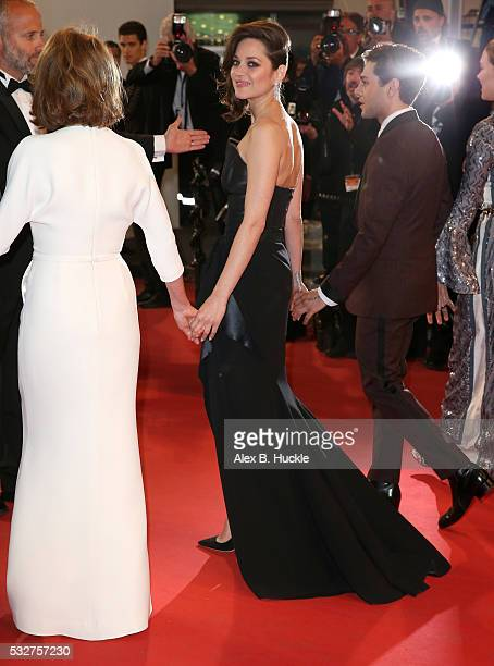 """Nathalie Baye, Marion Cotillard and Xavier Dolan attend the """"It's Only The End Of The World """" Premiere during the 69th annual Cannes Film Festival at..."""