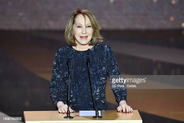 Nathalie Baye on stage during the 46th Cesar Film Awards Ceremony At L'Olympia In Paris on March 12, 2021 in Paris, France.