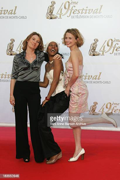 Nathalie Besancon Dorylia Calmel and Florence Hebbelynck arrives at the 49th Monte Carlo Television Festival at the Grimaldi Forum on June 7 2009 in...