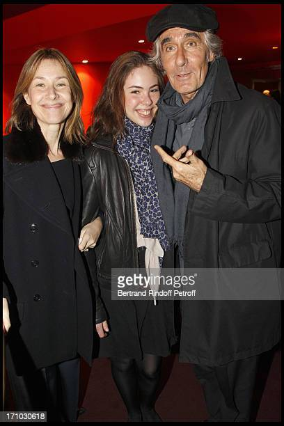 Nathalie Bloch Laine and daughter Marie Sarde Richard Pezet at The Premiere Of The Film Camping 2 At The Cinema Gaumont Opera In Paris