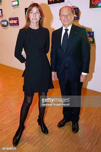Nathalie Bloch Laine and Jean ClaudeMeyer attend the Societe des Amis du Musee National d'Art Moderne Dinner at Beaubourg on January 20 2015 in Paris...