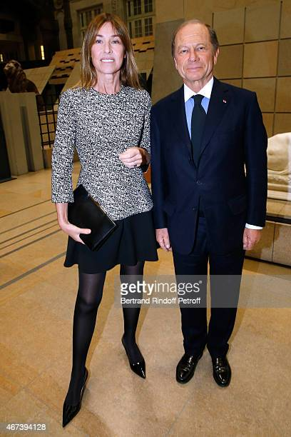 Nathalie Bloch Laine and JeanClaude Meyer attend the 'Societe des Amis du Musee D'Orsay' Dinner Party at Musee d'Orsay on March 23 2015 in Paris...