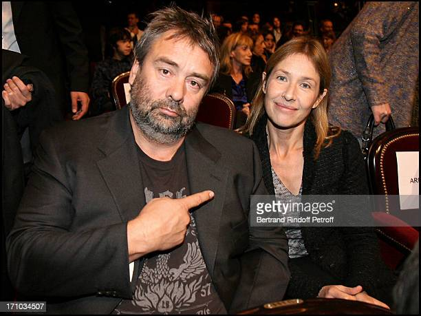 Nathalie Bloch Laine and Luc Besson at The Paris Premiere Of The Film Le Concert At Theatre Du Chatelet