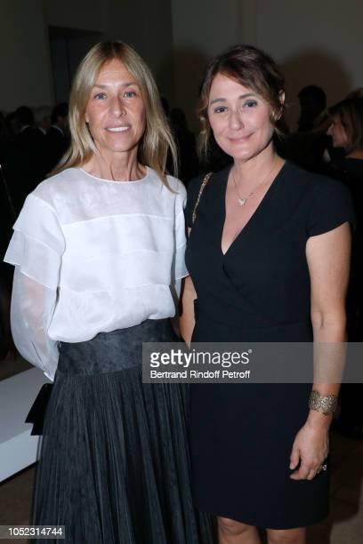 Nathalie BlochLaine and Daniella Lumbroso attend the Societe des Amis du Musee d'Art Moderne Dinner Held at Musee d'Art Moderne de la Ville de Paris...
