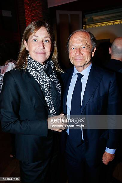 Nathalie BlochLaine and JeanClaude Meyer attend Peshmerga Private Screening at Galerie Azzedine Alaia on July 4 2016 in Paris France