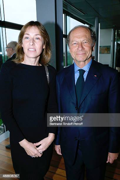 Nathalie BlochLaine and JeanClaude Meyer attend the 'Fondation Cartier pour l'art contemporain' celebrates its 30th anniversary on May 8 2014 in...