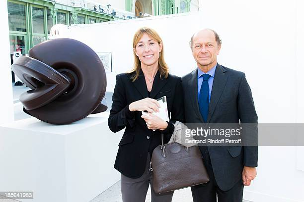 Nathalie BlochLaine and JeanClaude Meyer attend the opening of the 40th edition of the FIAC International Contemporary Art Fair at Grand Palais on...