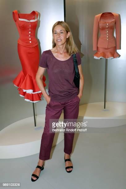 Nathalie BlochLaine attends L'Alchimie secrete d'une collection The Secret Alchemy of a Collection Exhibition Preview at Galerie Azzedine Alaia on...