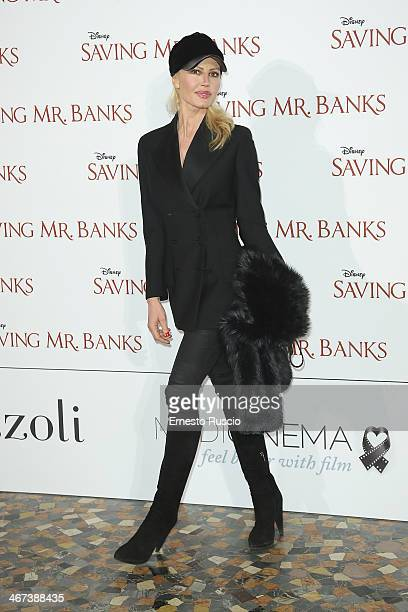 Nathalie Caldonazzo attends the 'Saving Mr Banks' premiere at The Space Moderno on February 6 2014 in Rome Italy