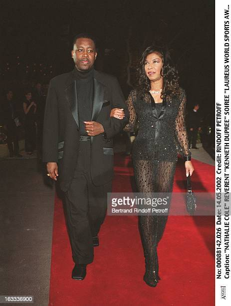Nathalie Cole reverend Kenneth Dupree Laureus World Sports Awards party in Monaco