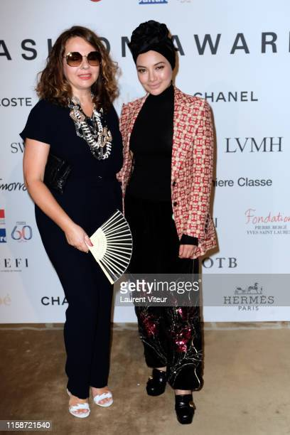 Nathalie Colin and Neelofa Noor attend the 30th Andam Fashion Awards Ceremony At Ministere De La Culture on June 27 2019 in Paris France