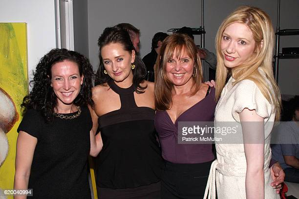 Nathalie de Berry Jennifer Bell Corno and Melissa Berkelhammer attend CORNO Private Viewing Sponsored by GLITTERATI Magazine and INOCENTE Tequila at...