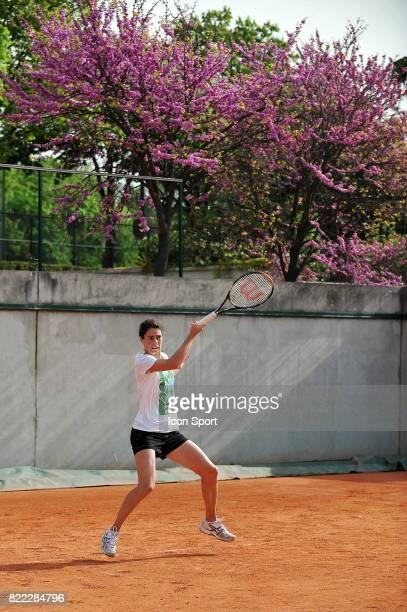 Nathalie DECHY Entrainement de l 'equipe de France de Fed Cup en vue du match de barrage contre la Slovaquie Roland Garros Paris