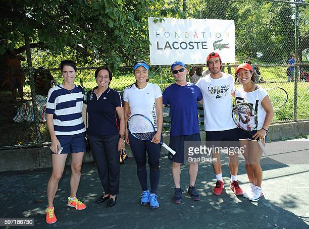 Nathalie Dechy Beryl LacosteHamilton Latisha Chan Mike Silverman Pablo Cuevas and Kristie Ahn attend LACOSTE And City Parks Foundation Host Tennis...
