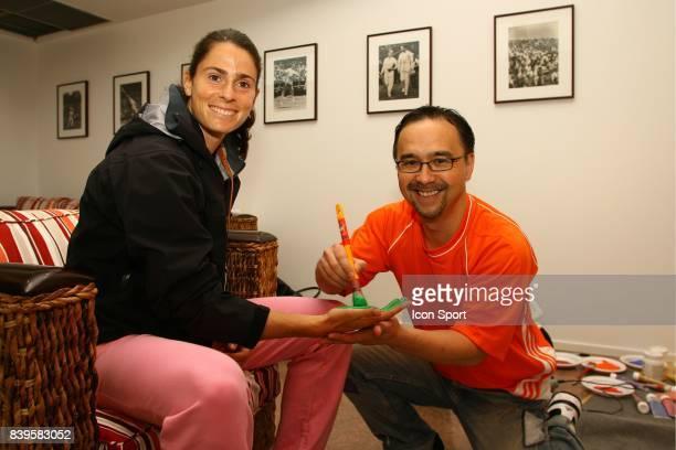 Nathalie DECHY et VANLUC Roland Garros 2006 La Vach'art est un concours d'art Contemporain au benefice d'oeuvres caritatives Apres New York Las Vegas...