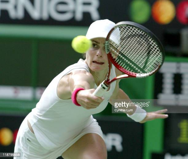Nathalie Dechy of France during her 2005 Australian Open Semi Final match against Lindsay Davenport of the USA Lindsay Davenport won 26 76 64