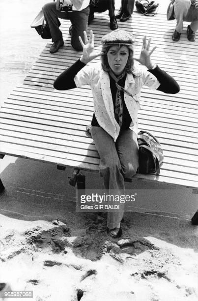 Nathalie Delon le 20 mai 1973 au festival de Cannes France