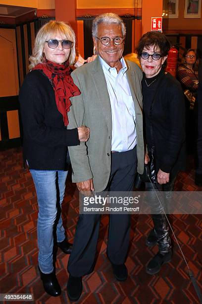Nathalie Delon Photographer JeanMarie Perier and Singer Dani pose after the 'FlashBack' JeanMarie Perier's One Man Show at Theatre de la Michodiere...