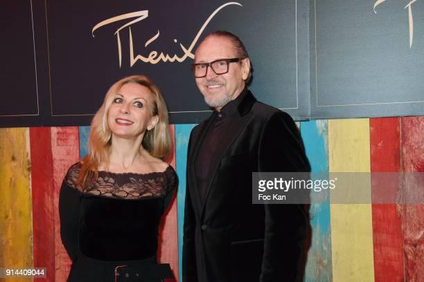 Nathalie Dessay and Alain Pacherie attend 39th Festival Mondial Du Cirque de Demain Awards Ceremony At Cirque Phenix on February 4 2018 in Paris...