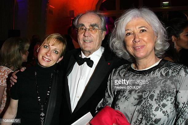Nathalie Dessay Michel Legrand and his wife at the Pre Catelan in Paris France on May 06 2009