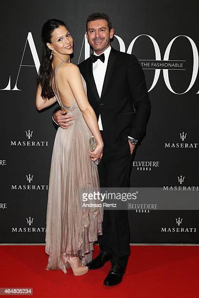 Nathalie Dompe and guest attend the 'The Misia Ball' Lampoon Launch Party during the Milan Fashion Week Autumn/Winter 2015 on February 28, 2015 in...
