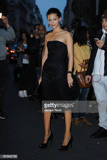 Nathalie Dompe arrives at Moncler New Flagship Opening during Paris Fashion Week Womenswear SS14 - Day 3 on September 26, 2013 in Paris, France.