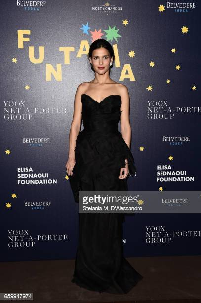 Nathalie Dompe attends Elisa Sednaoui Foundation and Yoox Net a Porter Event on March 28 2017 in Milan Italy