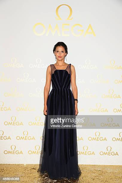 Nathalie Dompe attends OMEGA 'Her Time' Gala Dinner at Palazzo Del Ghiaccio on September 16 2015 in Milan Italy