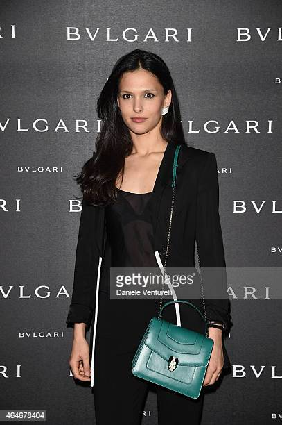 Nathalie Dompe attends the Bulgari Fall/Winter 2015 Accessories Presentation during the Milan Fashion Week Autumn/Winter 2015 on February 27 2015 in...