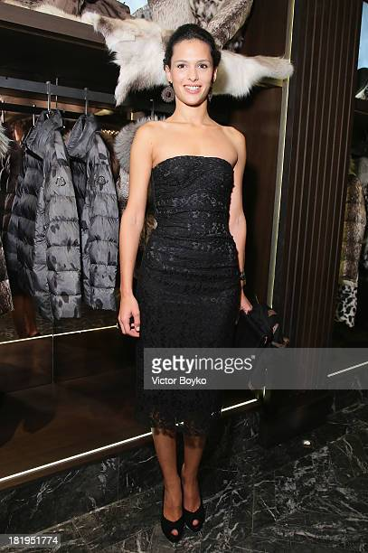 Nathalie Dompe attends the cocktail for the Moncler New Flagship Opening in Paris at Rue Du Faubourg SaintHonore on September 26 2013 in Paris France
