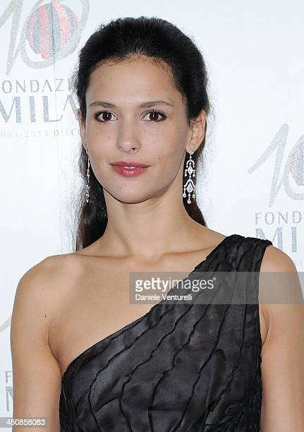Nathalie Dompe attends the Fondazione Milan 10th Anniversary Gala on November 20 2013 in Milan Italy