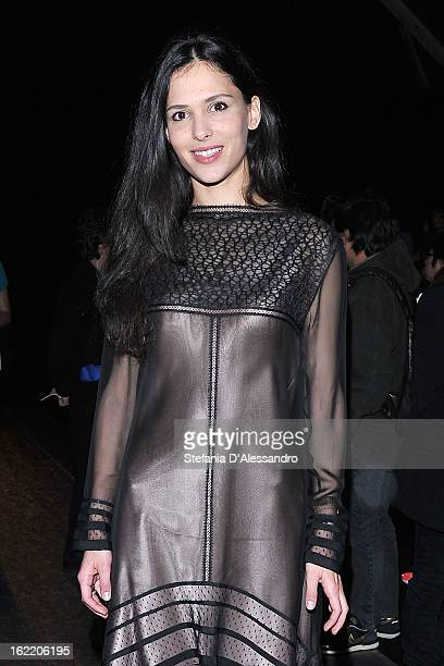 Nathalie Dompe attends the Gucci fashion show as part of Milan Fashion Week Womenswear Fall/Winter 2013/14 on February 20 2013 in Milan Italy