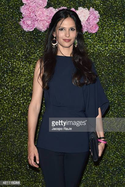 Nathalie Dompe attends the Stella McCartney Garden Party during the Milan Fashion Week Menswear Spring/Summer 2015 on June 23 2014 in Milan Italy