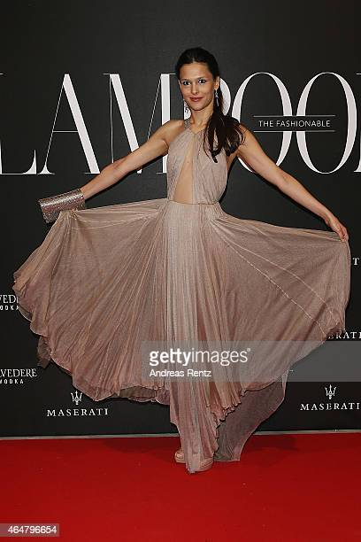 Nathalie Dompe attends the 'The Misia Ball' Lampoon Launch Party during the Milan Fashion Week Autumn/Winter 2015 on February 28 2015 in Milan Italy