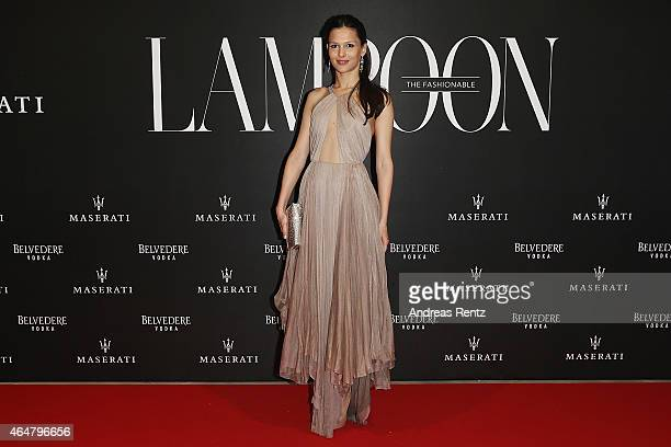 Nathalie Dompe attends the 'The Misia Ball' Lampoon Launch Party during the Milan Fashion Week Autumn/Winter 2015 on February 28, 2015 in Milan,...