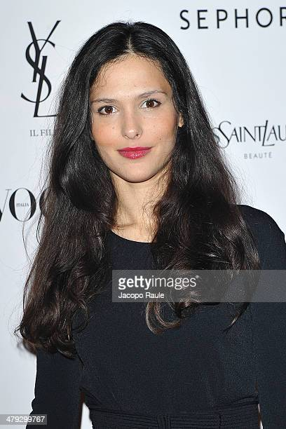 Nathalie Dompe attends 'Yves Saint Laurent' Premiere on March 17 2014 in Milan Italy